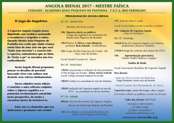 PROGRAMAÇÃO BIENAL 2017