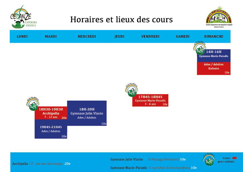Horaires et Lieux_Paris